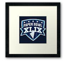 Paper Bowl Sunday Framed Print