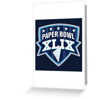Paper Bowl Sunday Greeting Card