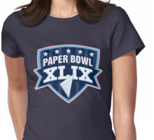 Paper Bowl Sunday Womens Fitted T-Shirt
