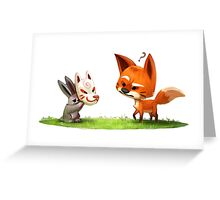 Sly Rabbit Greeting Card