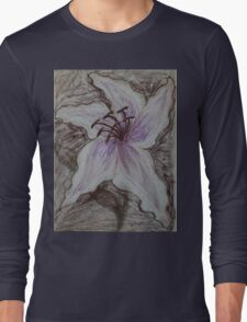 Stargazer Lily in Pastel Long Sleeve T-Shirt