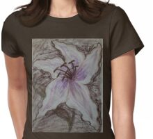 Stargazer Lily in Pastel Womens Fitted T-Shirt