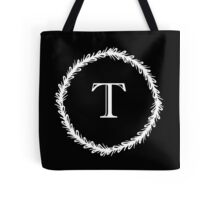 Monochrome Monogram T Tote Bag