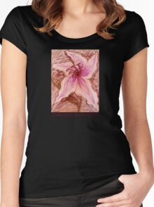 Stargazer Lily in Pastel shirt Women's Fitted Scoop T-Shirt