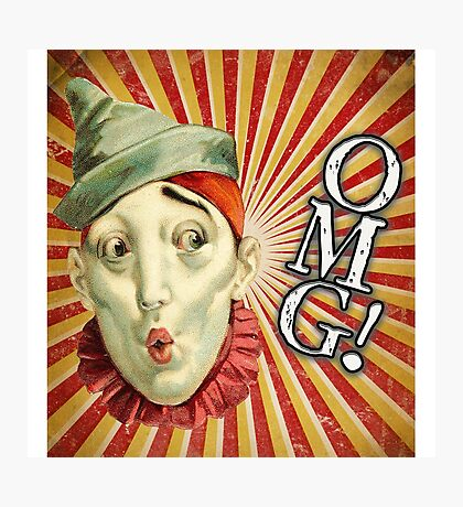 OMG! Clown (With Background) Photographic Print