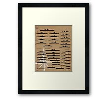 WW2 American Fleet Framed Print