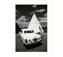 Route 66 Wigwam Motel and Classic Car Art Print