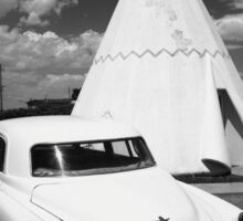 Route 66 Wigwam Motel and Classic Car Sticker