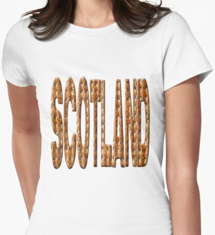 Tweed Scotland Womens Fitted T-Shirt