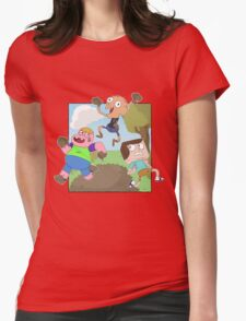 Mud Fight!  Womens Fitted T-Shirt