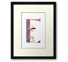 The Letter E Framed Print