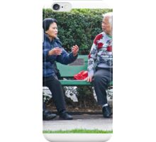 Conversation In The Park iPhone Case/Skin