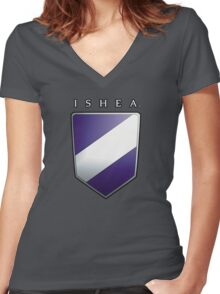Ishean Coat of Arms Women's Fitted V-Neck T-Shirt