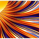 Color & Form Abstract - Solar Gravity & Magnetism 3 by Leah McNeir