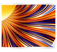 Color & Form Abstract - Solar Gravity & Magnetism 3 Poster