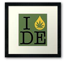 I Dab DE (Delaware) Framed Print