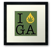 I Dab GA (Georgia) Framed Print