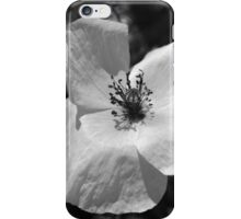 white poppy iPhone Case/Skin