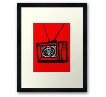 trippy bass tv Framed Print