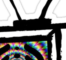 trippy bass tv Sticker