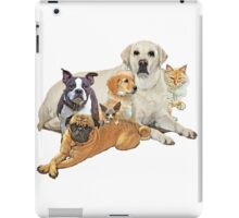 Dog posse with cats  iPad Case/Skin
