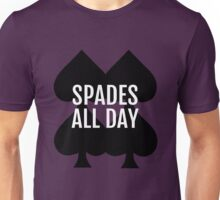 Spades All Day Lucky Deck of Cards Unisex T-Shirt