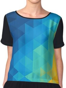 Abstract Color Mosaic Chiffon Top
