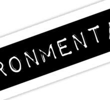 Environmentalist Label Sticker