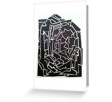 Edgy Black and White Design  Greeting Card