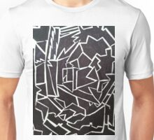 Edgy Black and White Design  Unisex T-Shirt