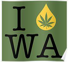 I Dab WA (Washington) Poster