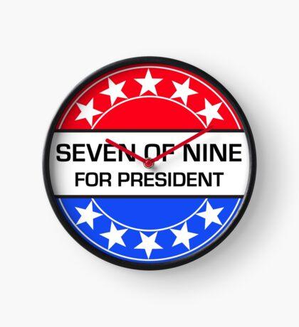 SEVEN OF NINE FOR PRESIDENT Clock
