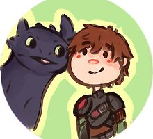Toothless and Hiccup by Dimension Bound