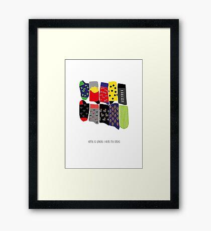 Home is where I have my socks... Framed Print