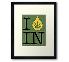 I Dab IN (Indiana) Framed Print