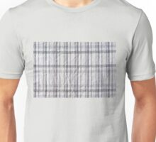 Gray checked creased cotton cloth Unisex T-Shirt