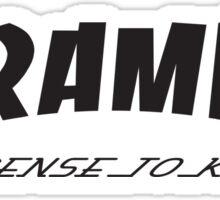 Ceramics: License to kiln Sticker
