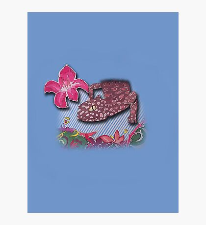 Floral lizard Photographic Print