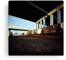 Trainyard Canvas Print