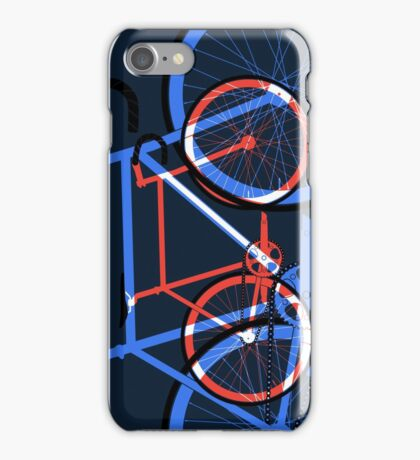 Fixed Gear Road Bikes – Blue, Purple and Red  iPhone Case/Skin