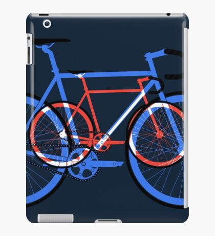 Fixed Gear Road Bikes – Blue, Purple and Red  iPad Case/Skin