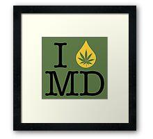 I Dab MD (Maryland) Framed Print