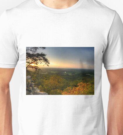 Sunset panorama on Georgia Mountains Unisex T-Shirt