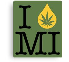 I Dab MI (Michigan) Canvas Print