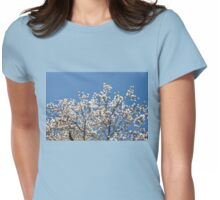 White Magnolia blossoms bunch Womens Fitted T-Shirt