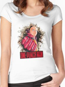 One Punch Man Crash Wall Women's Fitted Scoop T-Shirt