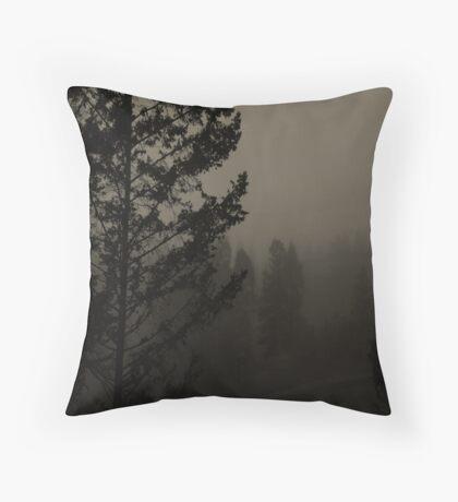Morning Mountain Mist Throw Pillow