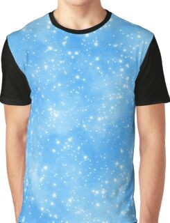 Snow On Blue Sky.. Snow run Graphic T-Shirt