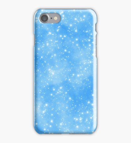 Snow On Blue Sky.. Snow run iPhone Case/Skin