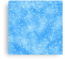 Snow On Blue Sky.. Snow run Canvas Print